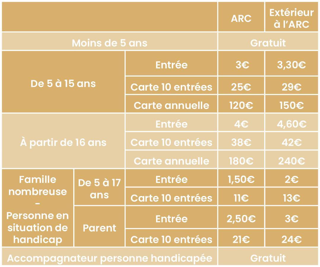 La carte d'abonnement vous sera facturée 2€ lors du 1er achat et 5€ en cas de perte.