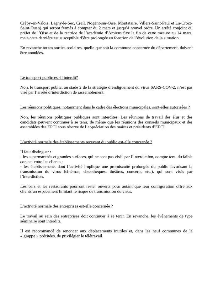 FAQ Coronavirus